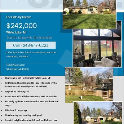 1268 Pinecrest Dr, White Lake, MI 48386